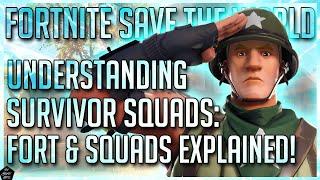 FORTNITE STW: FORT STATS & SQUADS EXPLAINED | UNDERSTANDING SURVIVOR SQUADS!