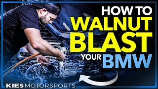 How to Walnut Blast an F30 BMW N55 335i Quick and Easy from Home!
