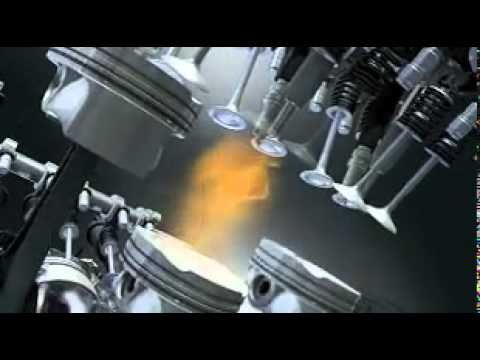 V8 Engine Animation BMW Assembly Twin Turb...