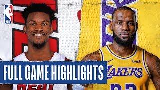Heat At Lakers   Full Game Highlights   November 8, 2019