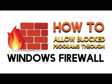 How To - Allow Blocked Programs Through the Windows Firewall on Windows 7