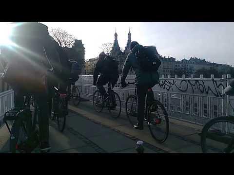 Copenhagen Morning Bicycle Rush Hour: Nørrebro to Ørestad North