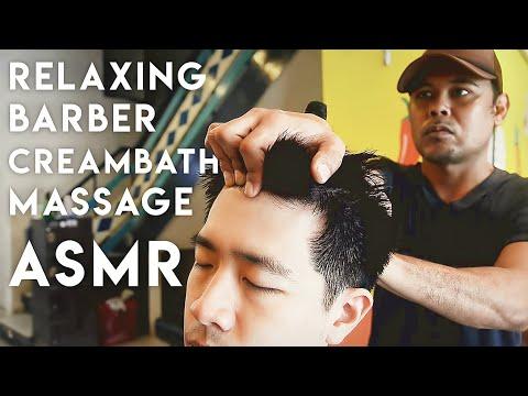 💈💆🏻♂️ ASMR Relaxing Barber Creambath Massage