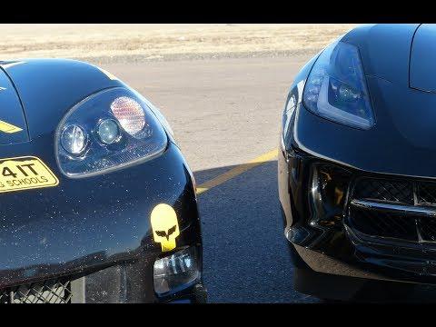 2014 Chevy C7 Corvette vs C6 Corvette Mashup Race Track Review ( Part 2)