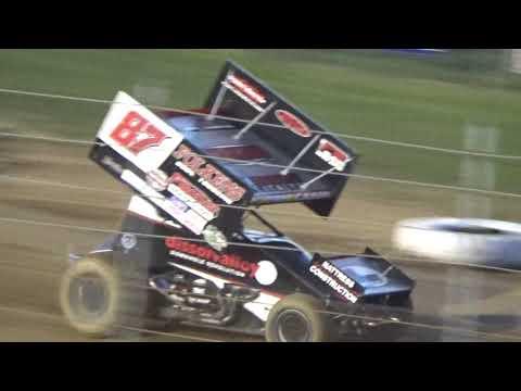 Angell Park Speedway IRA ASCOC Sprint Car Heat Race and B Main Highlights July 26 2018