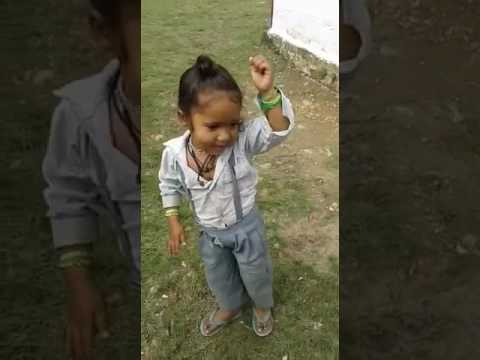 Kajal ko tikka lga le kumauni song sing and dance by cute kid