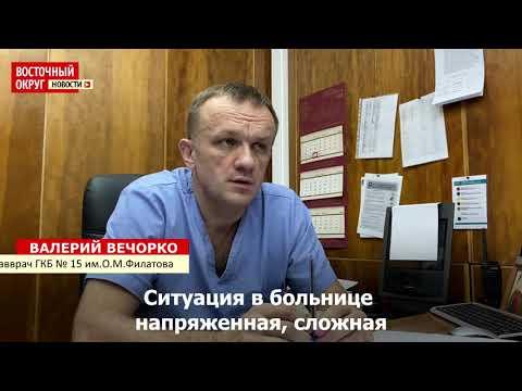 Главврач ГКБ № 15 в Вешняках Валерий Вечорко об обстановке в больнице