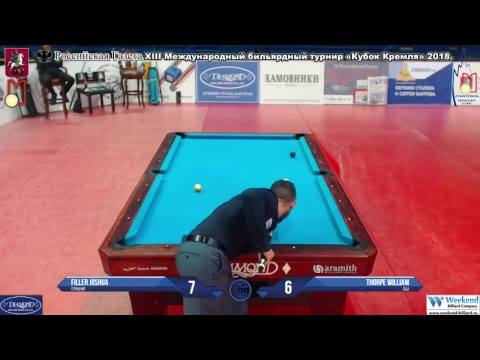 Filler Joshua (GER)-(USA) Thorpe William Kremlin Cup 10-ball 2018.