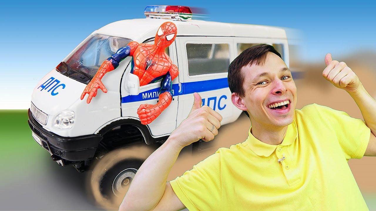 Человек Паук и Фёдор прокачивают машинки! Игры гонки супергероев в Автомастерской