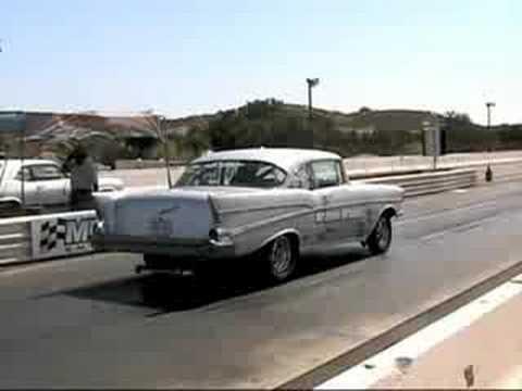57 Chevy Drag Racing At Barona Youtube