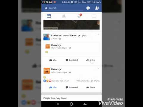 How to get a gif button on facebook profile picture android contact