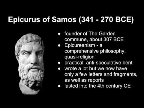 6a Epicurus on happiness and death
