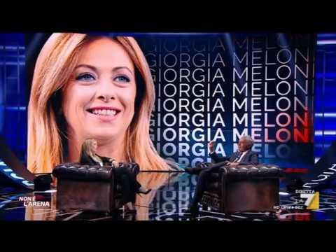 Non perdetevi l'intervista di Giorgia Meloni a Non è l'Arena da Massimo Giletti su La7