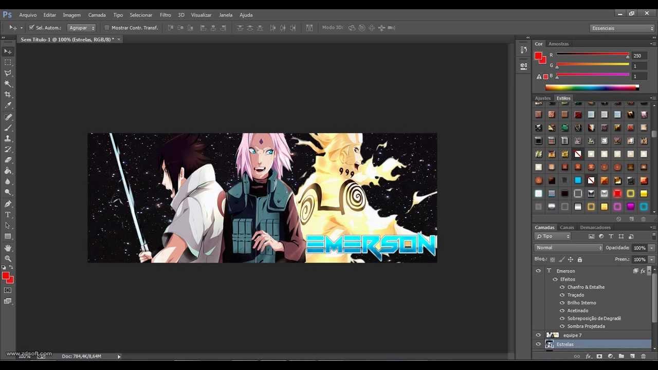 Photoshop - Criando capa para facebook personalizada