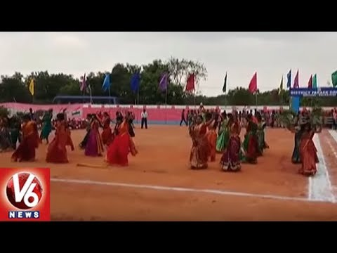 Medchal Students Perform Dance For V6 Bonalu Song | Telangana Formation Day | V6 News