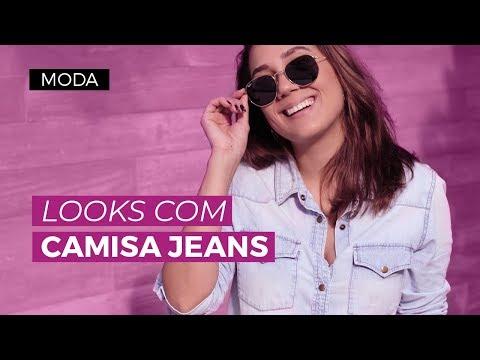 Looks com camisa jeans   CAMILA GAIO