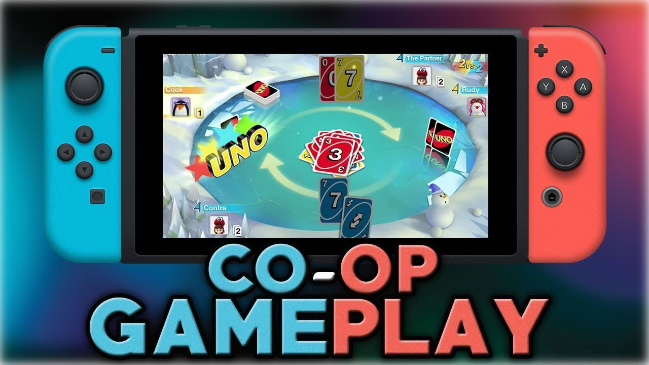 Uno Co Op Gameplay Nintendo Switch Youtube
