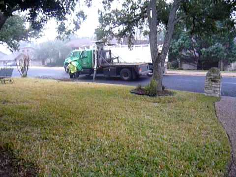 Yard Waste Removal Truck