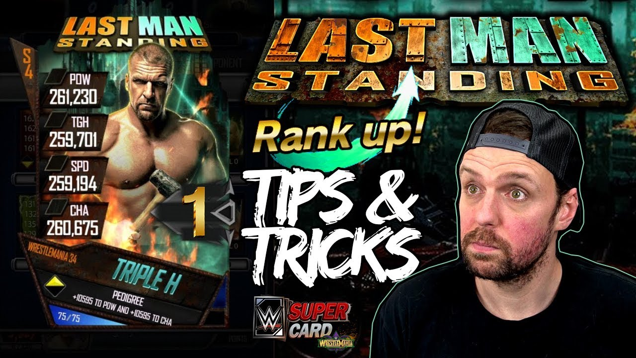 RANK UP FAST! ARENA DOESN'T MATTER! Last Man Standing Tips & Tricks - WWE SuperCard Season