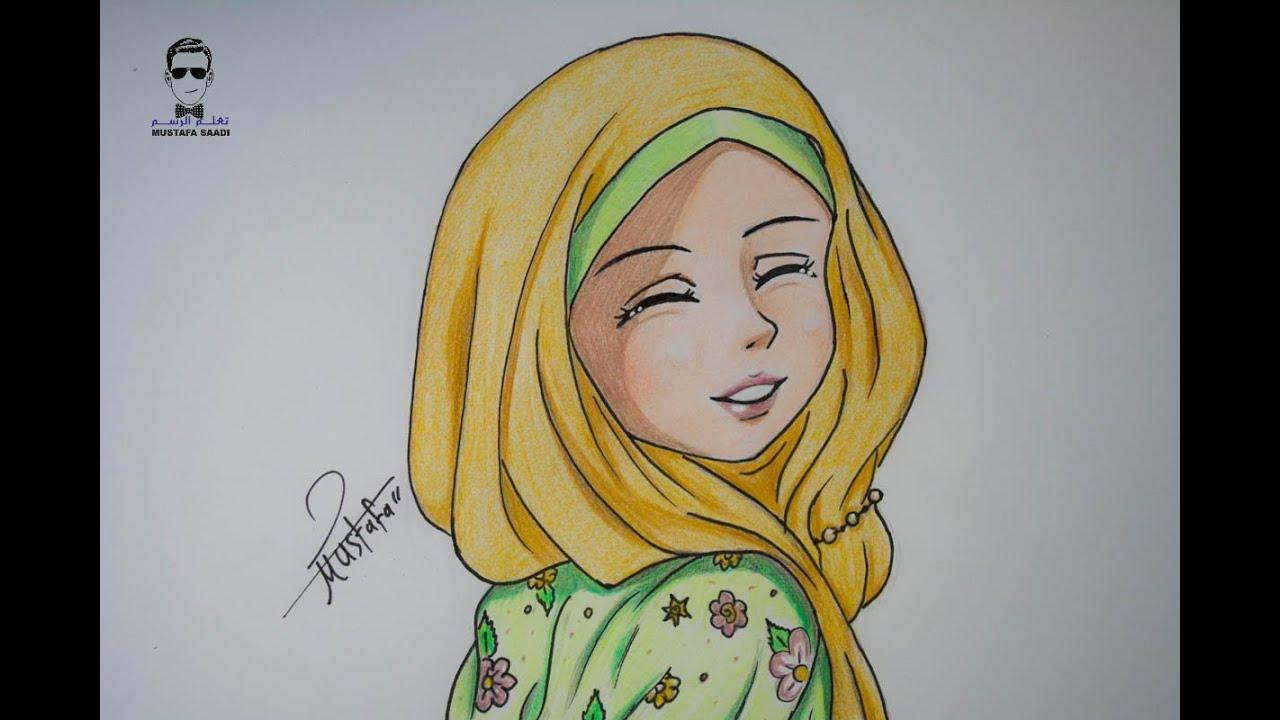 كيفية رسم انمي بالحجاب خطوة بخطوة Youtube