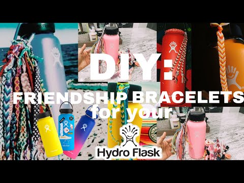 DIY: VSCO girl friendship bracelets for your HYDROFLASK *aesthetic af*