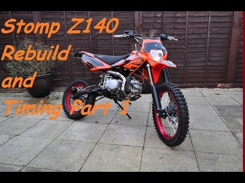 Pit Bike Stomp YX140 Replacement Cylinder head and Timing set up