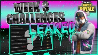*LEAKED* Week 3 Challenges (How to Guide) | Fortnite: Battle Royale Update