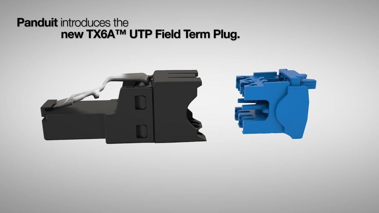 Plug TX6A™, Categoría 6A, UTP, terminado en campo