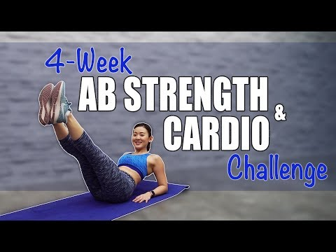 4-Week AB Strength & Cardio Challenge (Lose Belly Fat!)   Joanna Soh