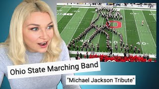 New Zealand Girl Reacts to OHIO STATE MARCHING BAND - MICHAEL JACKSON TRIBUTE!!