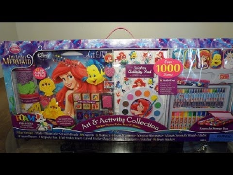 the little mermaid art activity collection stickersstamps surprise more b2cutecupcakes youtube