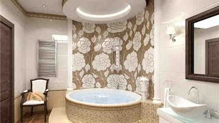 какой сделать потолок в ванной комнате идеи, варианты