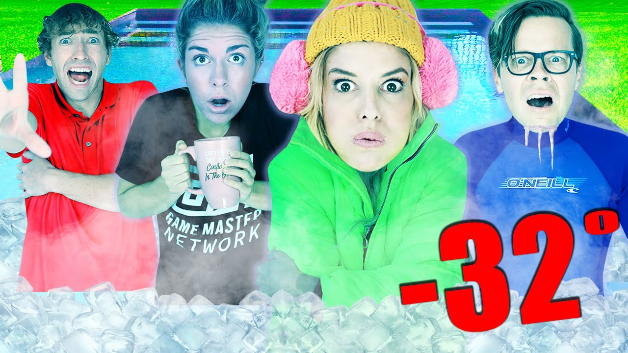Last to Leave the Freezing Pool Challenge Wins! (Missing Memory) Game Master Network
