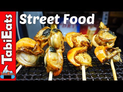 EPIC STREET FOOD TOUR of JAPAN-KUROMON MARKET in Osaka Japan
