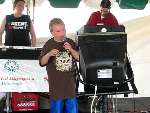 Mack Signing Karaoke at the Special Olympics