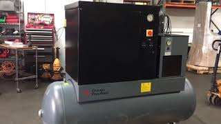 2006 Chicago Pneumatic QRS 10hp Rotary Screw Air Compressor & Dryer