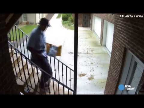 Mailman busted after video shows he threw package