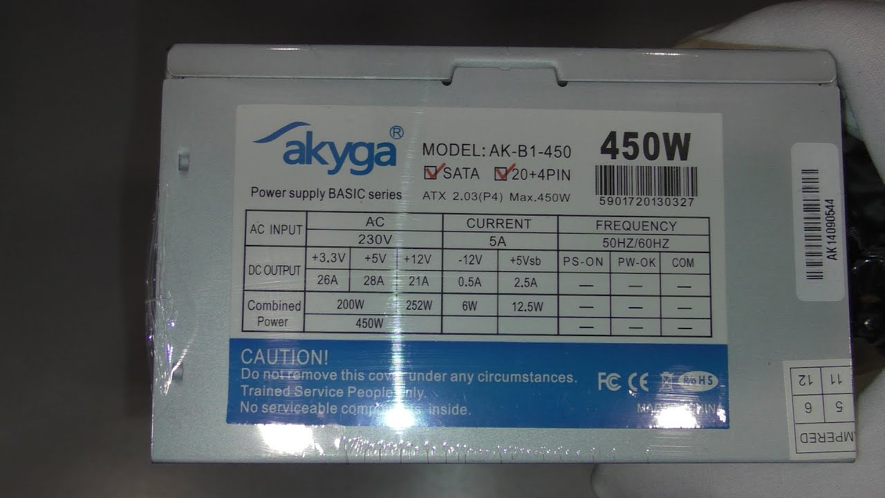 Unboxing Power Supply akyga AK-B1-450 is blacklisted power supply ...