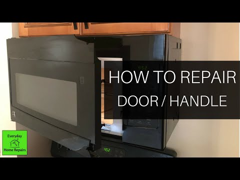 microwave-door-disassembly-and-repair