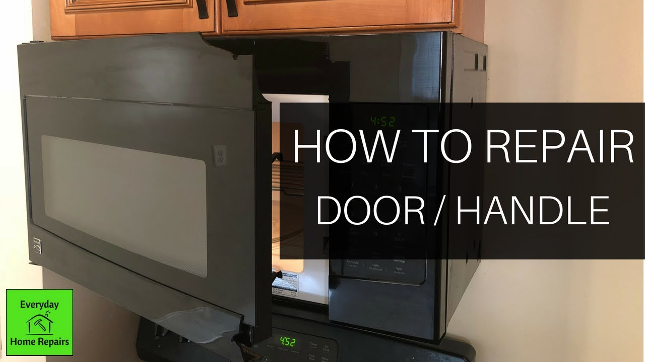microwave door disassembly and repair