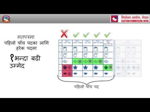 How to vote in Nepal Local elections 2017?( नेपाल को स्थानिय चुनावमा भोट् हाल्ने तरिका ! )