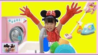 엄마 아빠를 위한 청소 대작전! 미니 유니의 엄마놀이 주방놀이 Yuni pretend play with cleaning toys Romiyu Story[로미유 스토리]