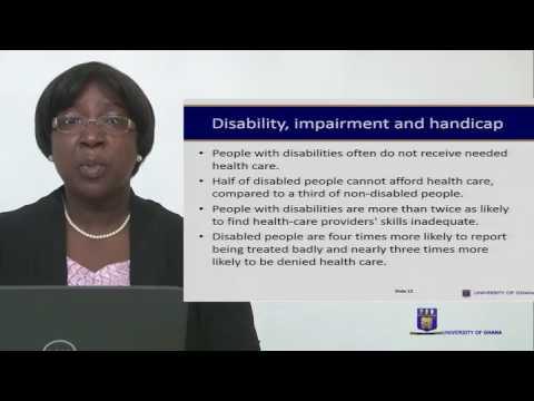 NURS 336: SESSION 3 - DISABILITY, HANDICAP AND IMPAIRMENT