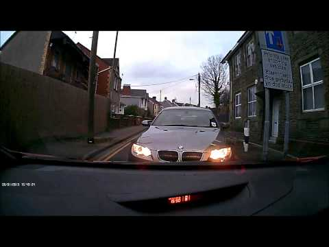 Mexican standoff BMW CA10 NNK thinks he bully his way through UK damshcams 2015