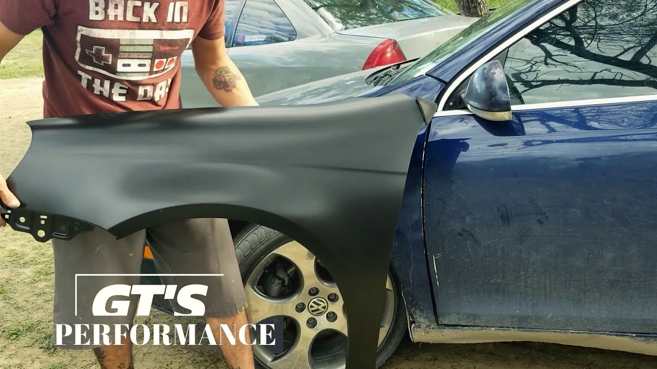 Vw Jetta Mk5 Fender Replacement Paint Cut And Buff