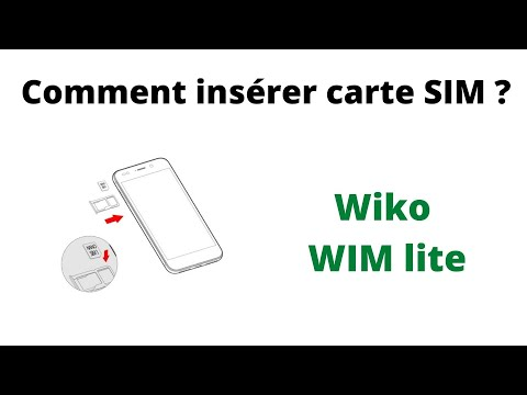 wiko wim lite carte sim Wiko WIM lite insérer carte SIM   YouTube