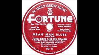 "John Brim & His Combo ""Mean Man Blues"" (w/ Grace Brim) - Fortune Records"