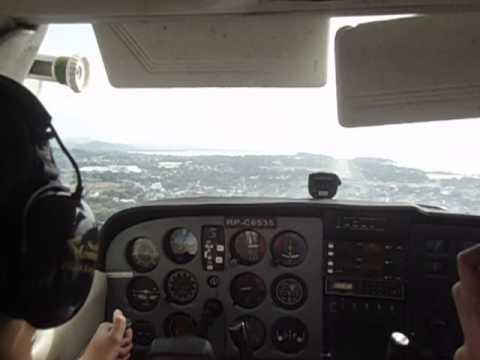 San Fernando Landing from Vigan (Cessna 172)