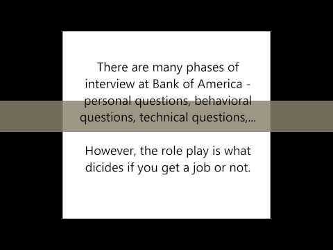 Bank of America Interview Tips