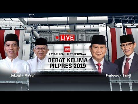FULL! Debat Capres - Cawapres Kelima 2019 ; Jokowi -Ma'ruf Amin Vs Prabowo - Sandiaga Uno
